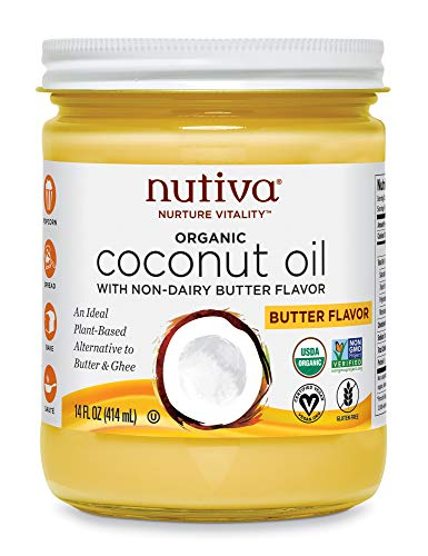 Nutiva Organic Coconut Oil with Butter Flavor (28 Servings)