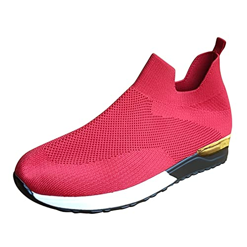 Geilisungren Damen Turnschuhe Sportliche Laufschuhe Schnürschuhe Atmungsaktive Leichtgewichts Sportschuhe Freizeitschuhe Straßenlaufschuhe Sneaker