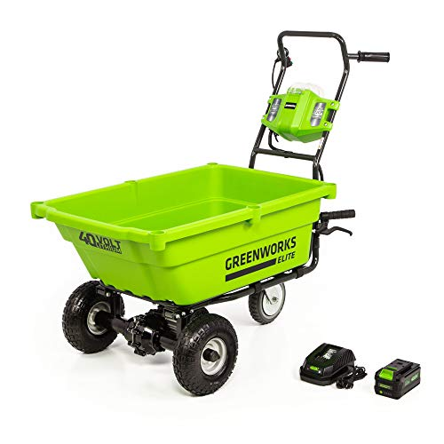 Greenworks LC-220 40V Cordless Lawn Cart, 3AH Battery and Charger Included