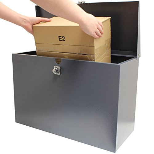 Hardcastle - Abschließbare Paketbox aus Metall - Groß - Grau