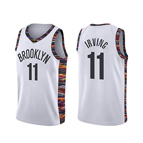 Jersey sin mangas de baloncesto de Swingman de adultos, redes 7# Durant 11# Irving bordado Versión de la ciudad Jersey, secado rápido y transpirable Style L-L