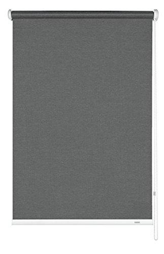 GARDINIA Seitenzug-Rollo, Decken-, Wand- oder Nischenmontage, Lichtdurchlässig, Blickdicht, Alle Montage-Teile inklusive, Grau, 92 x 180 cm (BxH)