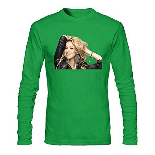 SLJD Shakira Mebarak - Camiseta de manga larga para hombre (algodón)