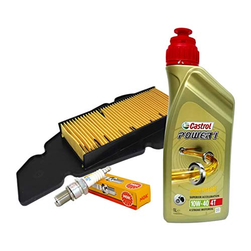 Kit tagliando Castrol 10W40 filtro aria candela Malaguti Blog Centro 125 160