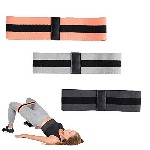La Gracery 3 Widerstandsstufen Fitnessbänder für Beine und Po, das Training der Hüftkniebeugen, Stretch-Übungsschlaufen, Beintraining, Krafttraining, Klimmzüge,schwarz