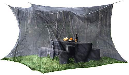 infactory Fliegengitter: Moskitonetz für Innen und Außen, 300 x 300 x 250 cm, 220 Mesh, schwarz (Moskitonetz XXL)