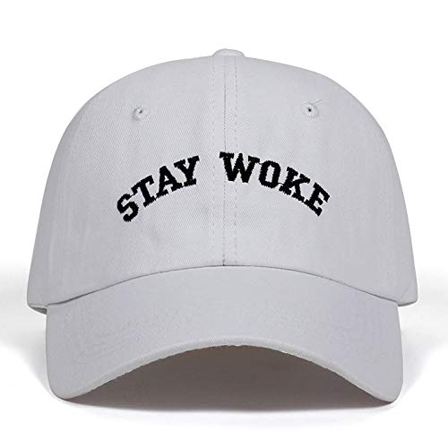 CXKNP Baseball cap New Stay Woke Geborduurd Ongestructureerde Dad Cap Verstelbare Heren En Women'S Fashion Katoen Baseball Cap