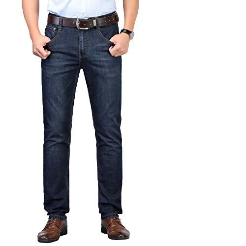 Beastle Jeans para Hombres, Trajes de Negocios de Primavera, Jeans Rectos elásticos, Jeans Holgados y cómodos para Todos los días 29