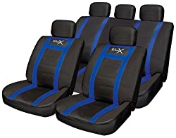 Streetwize Product Streetwize SWUXSC4 Leather Look Seat Cover Set - Blue