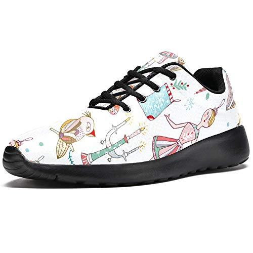 TIZORAX Laufschuhe für Herren und Mädchen, Eulen-Spielzeug, modische Sneakers, Netzstoff, atmungsaktiv, zum Wandern, Tennis, Schuhe, Mehrfarbig - mehrfarbig - Größe: 46 EU