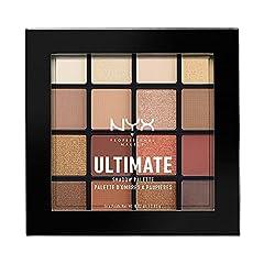Idea Regalo - NYX Professional Makeup Palette Ombretti Ultimate Shadow Palette, Pigmenti Pressati, 16 Tonalità, Effetto Opaco, Satinato, Metallico, Warm Neutrals, Confezione da 1