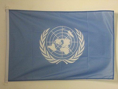 AZ FLAG Flagge VEREINTE Nationen UNO 90x60cm - United Nations Fahne 60 x 90 cm Aussenverwendung - flaggen Top Qualität