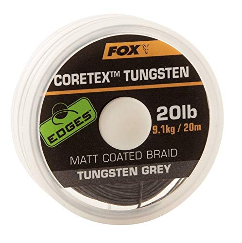 Fox edge coretex vorfachschnur 20 m mat Marron 25lbs//11.4kg