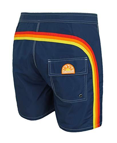 SUNDEK Costume Uomo BS/RB Contour Waist 16' Blu Pantalone Corto Shorts Mare (42, Blu Navy)