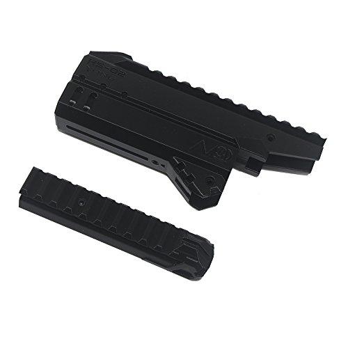 3D Toys 3D Printing Top Rail Front Tube Model HS02 for Nerf Hammer Shot Modify Toy Color Black