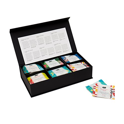 P & T Six Graces Amenity Box, Gemischtes Teebeutel-Sortiment in Box, Geschenkset, 6 Sorten Master...