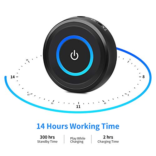 Giveet Bluetooth V5.0 Transmitter and Receiver with aptX Low Latency, Wireless Bluetooth Audio Streaming Adapter for TV, PS4, XBOX, PC, Headphones, Home Sound Car Stereo Speaker with 3.5mm or RCA Jack