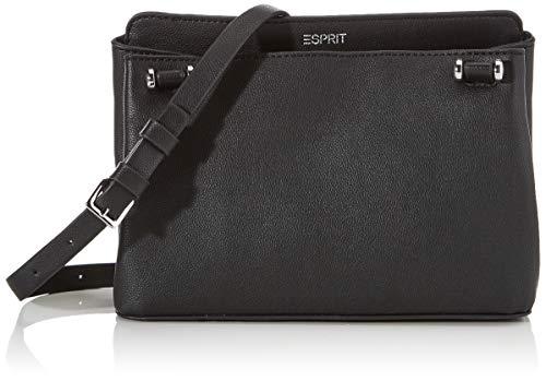 Esprit Accessoires Damen Alisonsmshbag Umhängetasche, Schwarz (Black), 8x15x24 cm