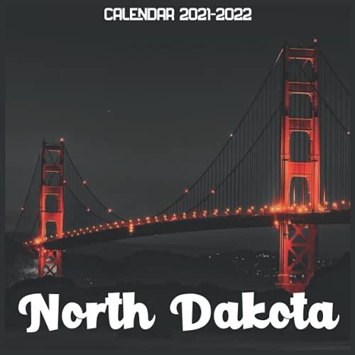 North Dakota Calendar 2021-2022: April 2021 Through December 2022 Square Photo Book Monthly Planner North Dakota small calendar