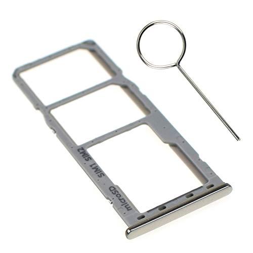 VEKIR Plata Nube SM-A505F Bandeja de Tarjeta Micro SD Bandeja de Tarjeta SIM Dual con Pin de Tarjeta reemplazo Compatible con Samsung Galaxy A50