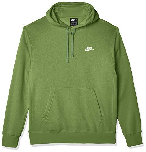 Nike Men's Sportswear Club Pullover Hoodie, Soft Hoodie for Men with Kangaroo Pocket, Treeline/Treeline/White, X-Large