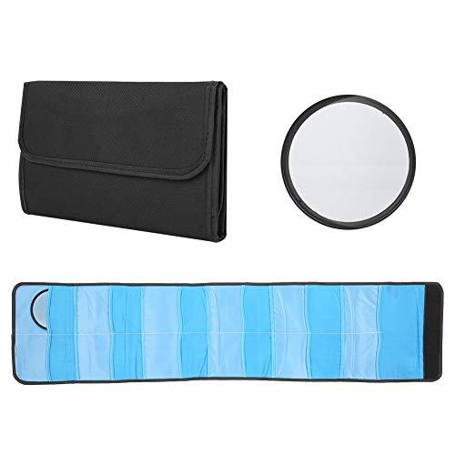 Naroote Praktische Schwarze, einfach zu verwendende Filtertasche Kamerafilterhülle Hohe Kapazität Hohe Qualität zum Schutz Ihrer Filterlinse vor Staub, Verwacklungen und Kratzern