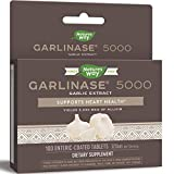 Nature's Way Garlinase 5000, 320 mg Garlic Extract Per Serving, 100 Tablets (Packaging May Vary)