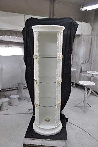 JV Moebel Vitrine Bar Eck Regal Glas Amphore Vase Bodenfase Säule Schrank Vitrinen Regale