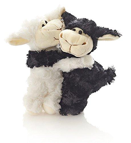 Unbekannt Hansen Plüsch Schaf Pärchen Stofftier Kuscheltier Plüschtier 20 cm schwarz weiß Paare und Verliebte / Engelchen Teufelchen