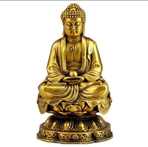 HZY Sakya Diosa de la Misericordia Llevar la Paz y la Salud Fino de Cobre Puro de la Estatua de Buda de Inicio Alquiler de embarcaciones de decoración de la Oficina, Cobre S, Color: Cobre M