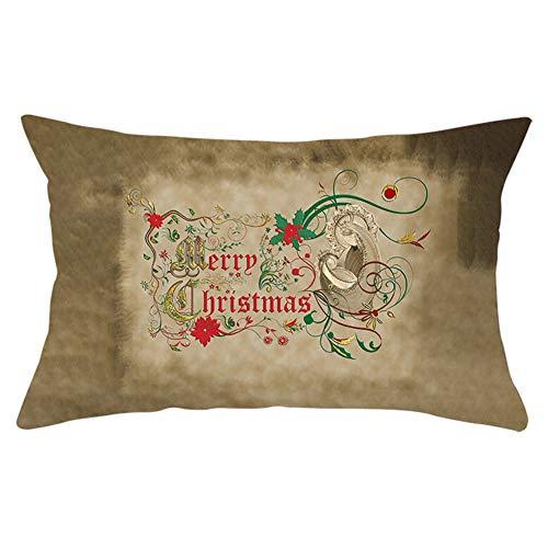 Jingpyij Fundas de Cojines Funda de Almohada Navidad Rectángulo Terciopelo Suave Cojines Decoracion con Cremallera Invisible para Sofá Cama Decoración Hogar Funda de Cojín Y8224 Pillowcase,60x80cm