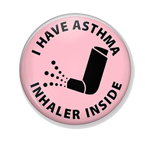 Generic Gifts & Gadgets Co Anstecknadel mit Aufschrift I Have Asthma Inhalator, Pink, 25 mm