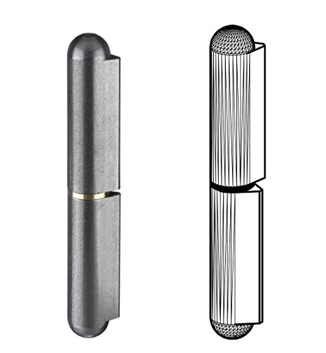 Gedotec Anschweißscharnier Stahl Anschweißbänder für Metall-Türen | Gartentor-Scharnier für schwere Tore | Anschweissband Höhe: 100 mm | MADE IN GERMANY | Tragkraft 200 kg | 2 Stück - Türscharniere