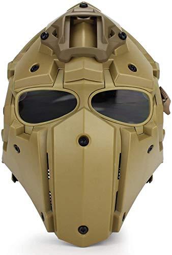 Protección Facial Completa GOBL Terminator Tactical Airsoft Casco con 5 Pares De Gafas De Protección Solar para Caza, Paintball, Juego De rol Militar