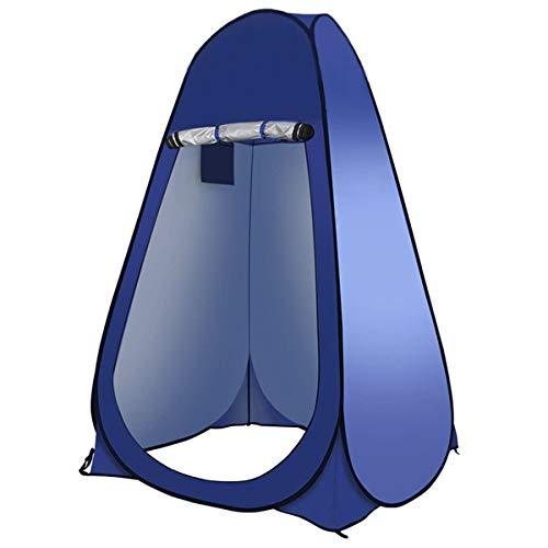 OhhGo Camping-WC-Zelt, tragbar, mit Aufbewahrungstasche für Outdoor-Baden, 1482637-AM91UK-M5P0KE, blau