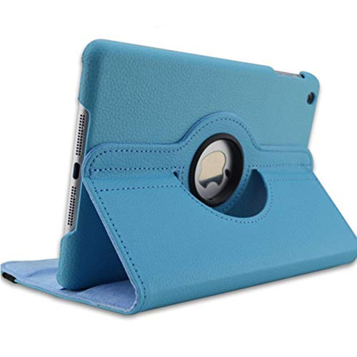 For iPad 3 A1416 A1430 A1403 Cover 360 Degree Rotation PU Leather for ipad case 3 2012 Release Stand Holder Case-for iPad 2 3 4 blue