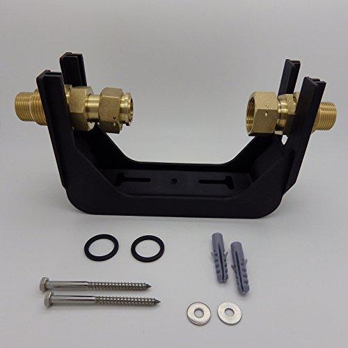 Wasserzähler-Anschlussgarnitur aus Polymer-Kunststoff 3/4 x 3/4 Zoll Steigrohr
