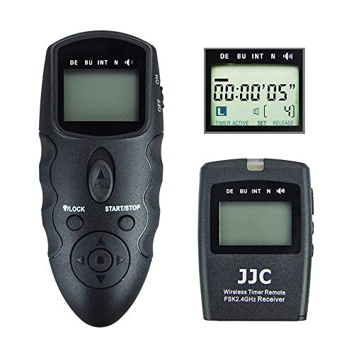 JJC Wireless Intervalometer Timer Remote Control Shutter Release for Canon EOS Rebel T7 T6 T5 T8i T7i T6s T6i T5i T4i T3i T2i SL3 SL2 SL1 EOS 90D 80D 70D 77D 60D EOS RP R M6 M5 SX70 SX60 HS and More -  WT-8682019