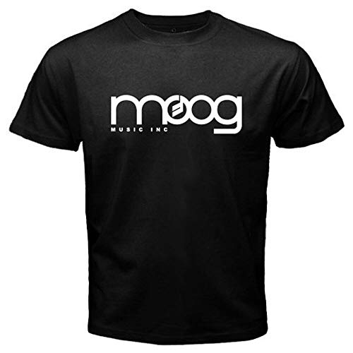Moog Synthesizer Music Logo Men\'s Black T-Shirt Size S M L XL 2XL 3XL BlackL
