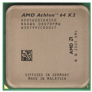AMD Athlon 64 X2 5600 + Brisbane 2.9 GHz 2 x 512 KB L2 Cache Socket AM2 procesador de Doble núcleo de 65 W