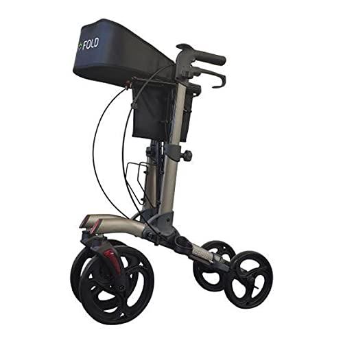 Deambulador plegable ligero para personas mayores, 4 ruedas interiores – Rollator Neo Fold Evolution gris mate – Plegable – Altura regulable 🔥