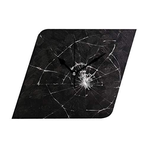 DragonSwordlinsu COOSUN Gebroken Glas Effect Wandklok Stille Niet tikken Acryl Rhombus Decoratieve Klok voor Thuis/Kantoor/Keuken/Slaapkamer/Woonkamer
