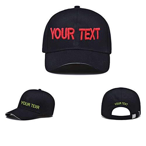 Gorra de béisbol de personalidad. Personalizar su propio sombrero de texto bordado, gorra de algodón con bordado personalizado deportivo ajustable de la juventud sombrero de la bola para hombres mujer