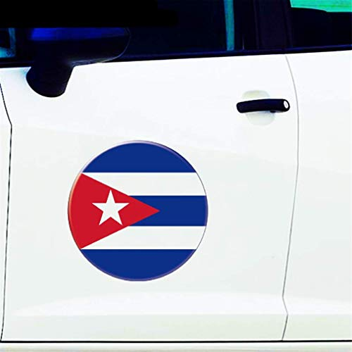 Auto Aufkleber Auto Moto Fahrrad Koffer Laptop Flagge Runde Kuba Aufkleber Reflektierende Auto Aufkleber 3D Auto Styling 13Cm X 13Cm