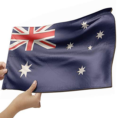 Australien Flagge als Lampe aus Holz - schenke deine individuelle Australien Fahne - kreativer Dekoartikel aus Echtholz