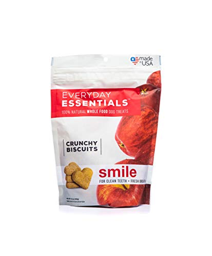 Isle of Dogs Everyday Essentials 100% Natural Smile Dog Treats, 12oz, Tan