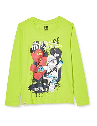 LEGO Jungen MWi-Langarmshirt Ninjago T-Shirt, 810 Lime Green, 140