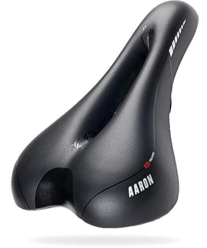 AARON Fahrradsattel - ergonomischer Fahrradsitz für Damen und Herren - Gelsattel ist bequem und wasserdicht - Fahrrad Sattel für Trekkingrad, Mountainbike, Stadtrad, E-Bike