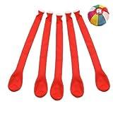 【バルーン】ジェット風船 単色 赤色 (100入) / お楽しみグッズ(紙風船)付きセット