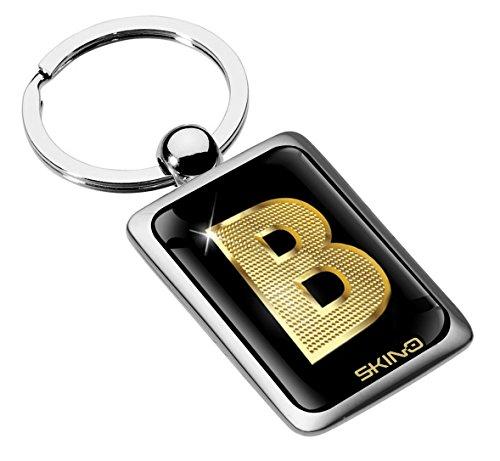 Biomar Labs® Metalen Alfabet A-Z Gepersonaliseerde Initialen Sleutelhanger Sleutelhanger Goud Mannen Vrouwen Gift Letter B, KK 132
